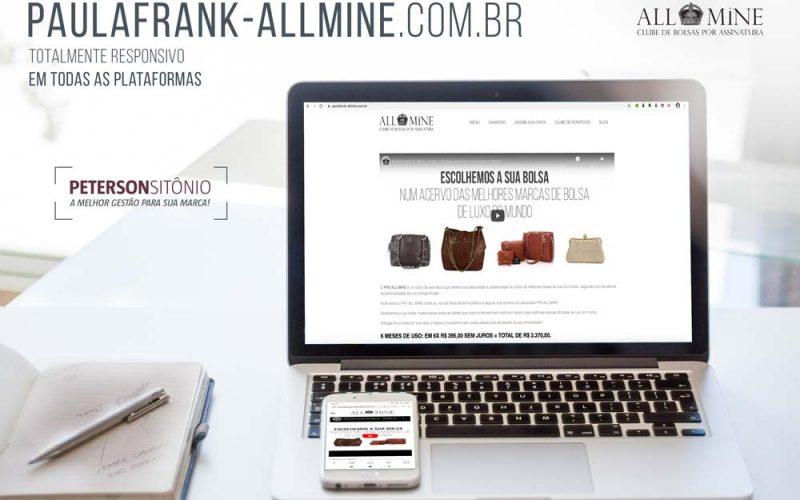 Criação Website para Paula Frank All Mine
